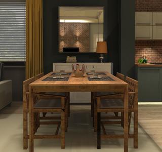 Wizualizacja wnętrza - Spacer 3d